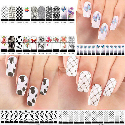 Precision Nail Art Tips Decal Decorations Latest Armour Foil Patch Wrap 007 HFCA
