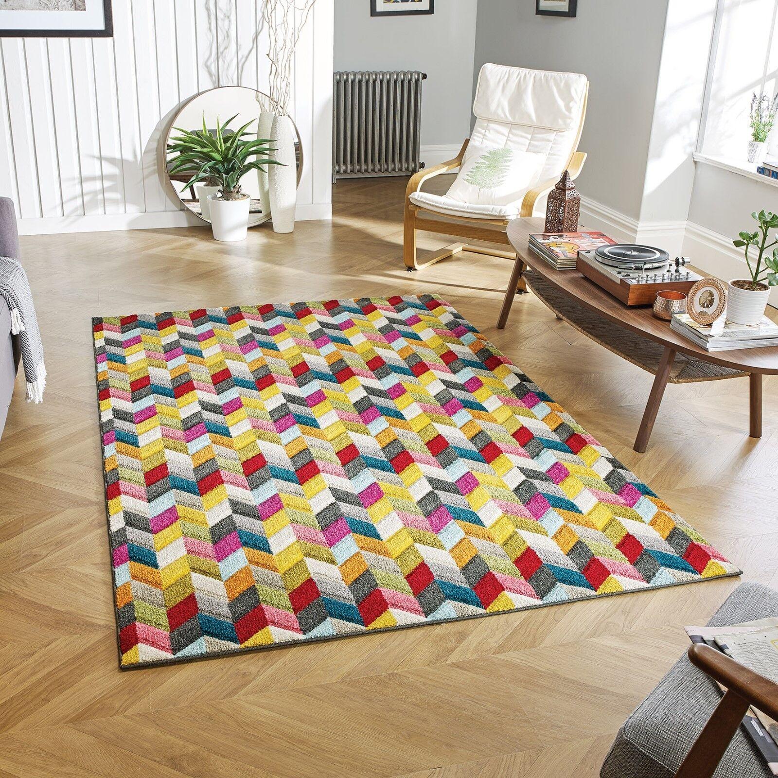 Piccadilly 564Y vibrant Géométrique Multicolore Tapis en tailles différentes tailles en et RUNNER 8c8d2d