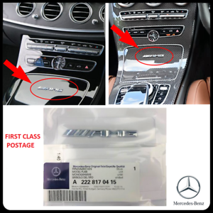 Small-Mercedes-AMG-Badge-Cockpit-Centre-Console-Dashboard-Interior-C-E-A-S-CLASS