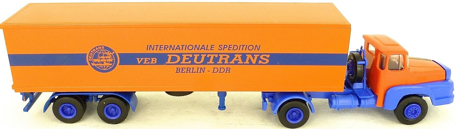 Deutrans DDR VEB internationale Expédition Berlin CAMION SEMI-REMORQUE H0 1