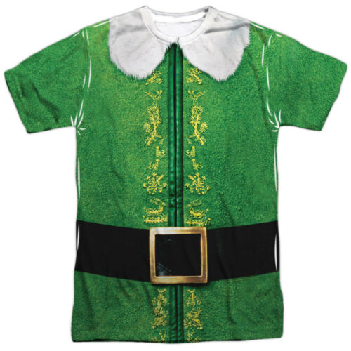 Elf Movie Christmas BUDDY COSTUME 1-Sided Big Print Poly T-Shirt