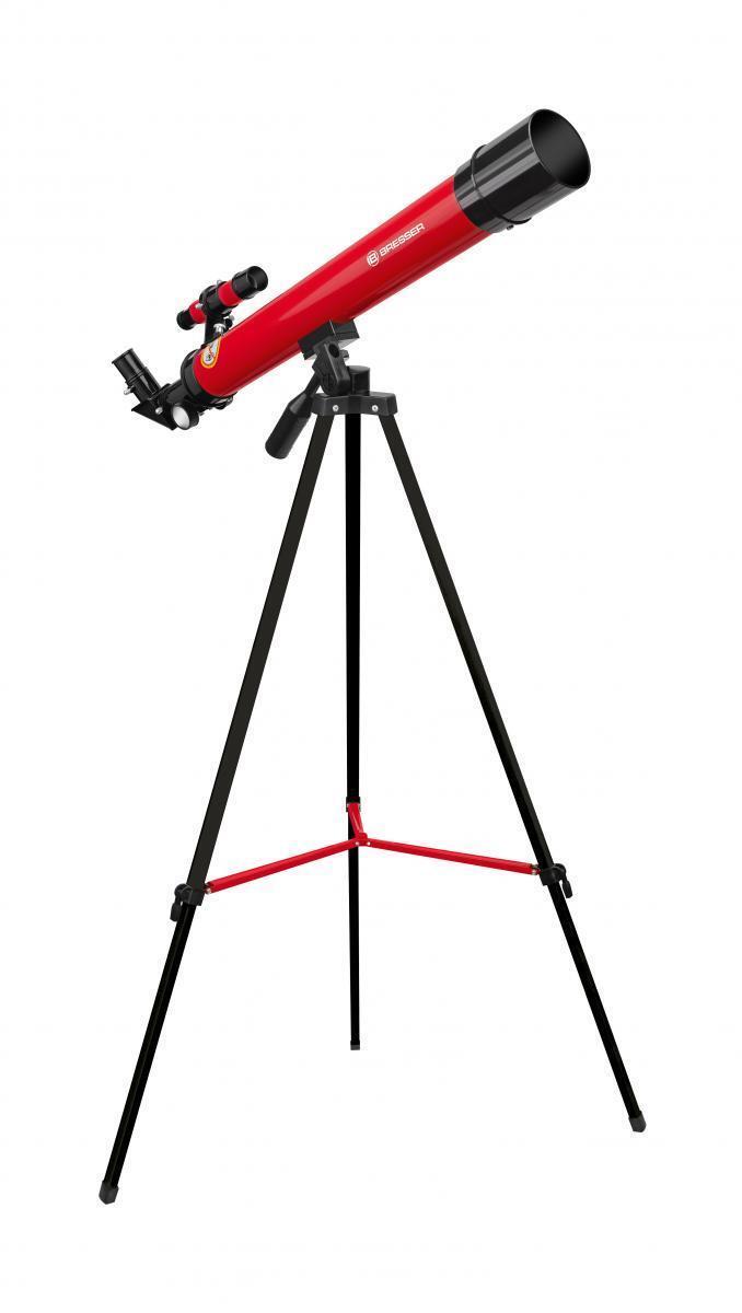 Bresser Junior Linsenteleskop Weltraum Explorer Fernglas 45/600 AZ rot Weltall