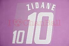 Zidane #10 2004 France Homekit Nameset Printing