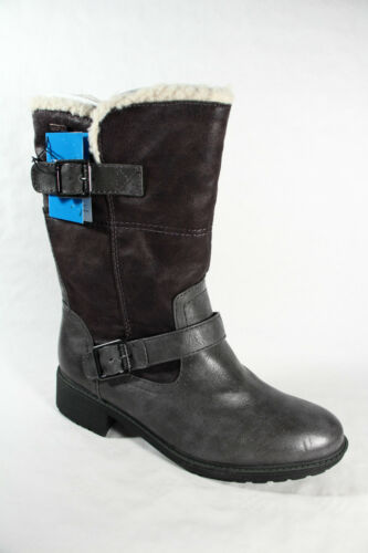 Jana Tex Stiefel Winterstiefel Boots grau Warmfutter; Profilsohle RV26441 NEU