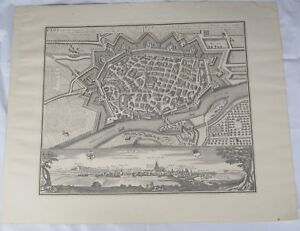 1643-Reproduction-Map-Etching-of-Ulm-Germany