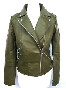 ZARA LEATHER BIKER JACKET SIZE XS S M L REF 2969 264