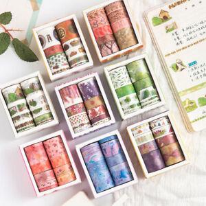10 Rolls//pack Washi Tape DIY Decorative Scrapbooking Paper Sticker Adhesive Tape