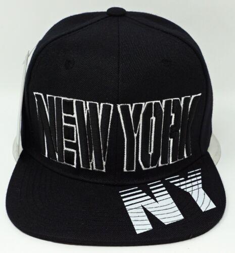 NEW YORK City Snapback Cap Hat NYC OSFM Adjustable Black NWT