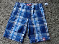 Arizona Jean Company Boy's Sz 8 Husky Chino Cotton Shorts Striped Blues