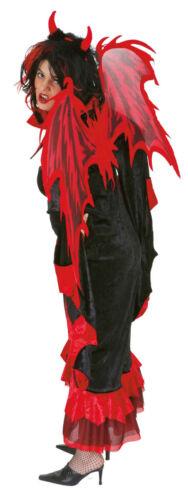 Flügel zum Teufel Kostüm rotschwarz Länge 112cm zu Halloween Orl