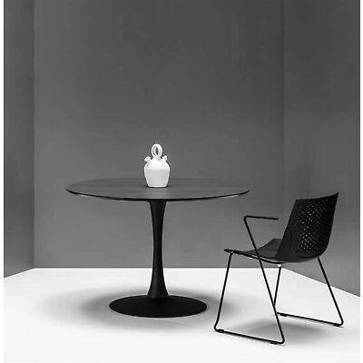 Design Esstisch Rund 110cm Schwarz Weiß oder Walnuss Küchentisch Esszimmertisch