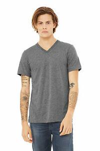 Bella 3415 Unisex Triblend V-Neck T-Shirt Color Chart Bella 3415 Color Chart