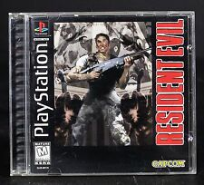 PS1 Resident Evil Black Label Complete Sony PlayStation 1 1996 Free US Shipping