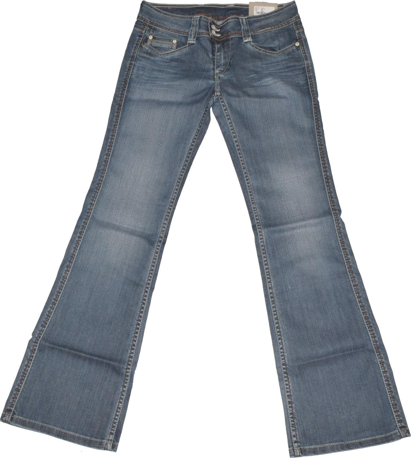 Pepe London  Blaze  Jeans  W28 L32  Stretch  Vintage  Stiefelcut  Used Look  NEU
