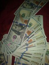 4x $100 bills Novelty Movie Prop Fake Play Money Joke Prank New Style Banknote