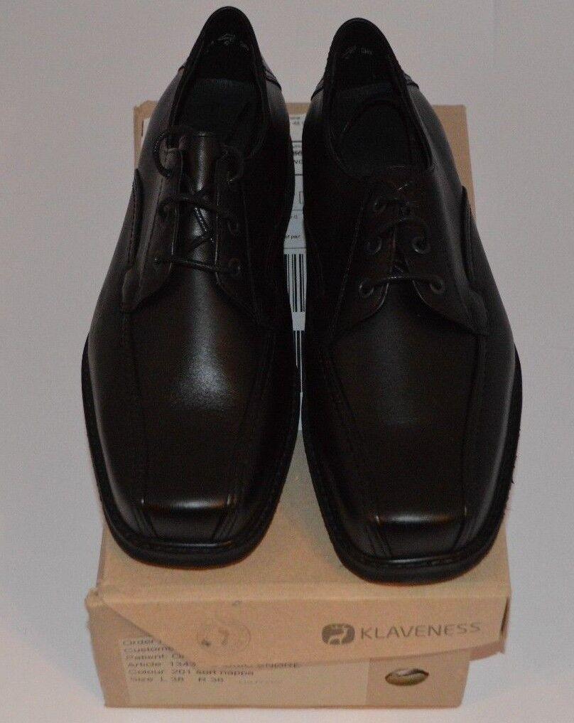 KLAVENESS DESIGNER SHOES WOMENS BLACK LACE UP SHOES DESIGNER SIZE UK 5 EU 38 NARROW NEW BOXED bbf4b3