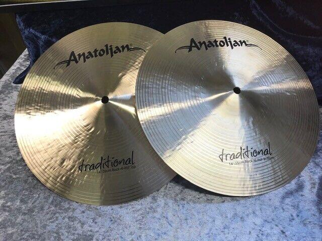 ANATOLIAN  Tradition Serie  14  Rock  HiHat Cymbals  aus ISTANBUL -  NEU
