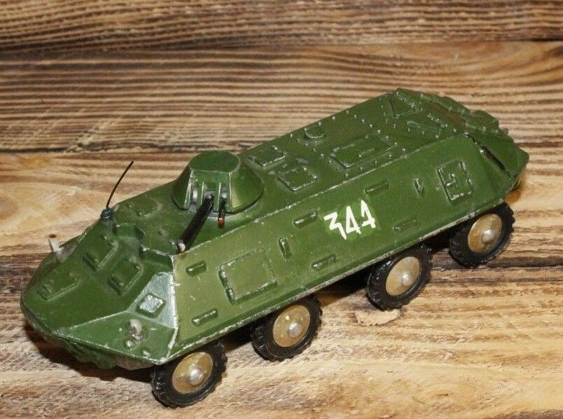 Vintage Soviet Toy RED ARMY Tank Armored personnel carrier (BTR)  1 43 Original
