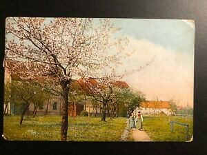 Antique-Postcard-1909-034-A-SPRING-TIME-IN-THE-VILLAGE-034