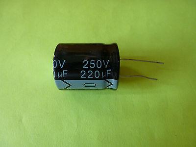 1X 220uf 250v Radial Electrolytic Capacitor.250v220uf NCC KXJ 15x43mm