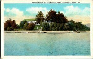 1930-039-S-PITTSFIELD-MASS-BREEZY-KNOLL-INN-PONTOOSUC-LAKE-POSTCARD-KK1