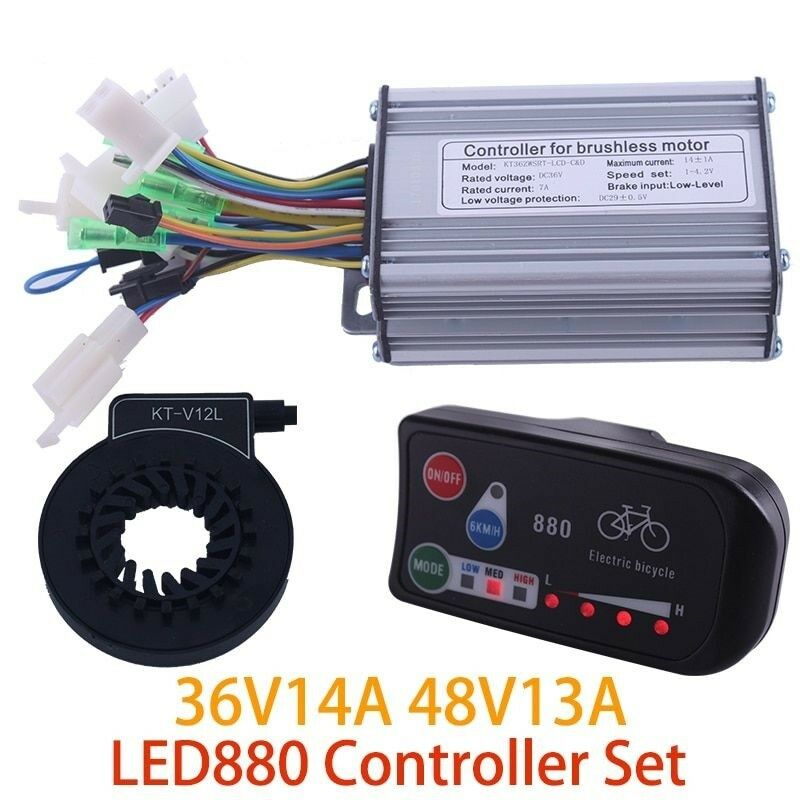 Conversion kit Controller LED 880 Display 48V 350W Meter PAS Set E-bike Bicycle