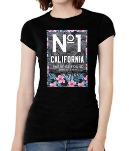 Womens-No-1-Cali-Paradise-Found-Short-Sleeve-T-Shirt