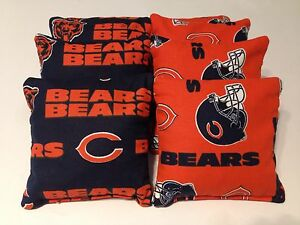 CHICAGO-BEARS-CORNHOLE-BEAN-BAGS-SET-OF-8-TOP-QUALITY-TOSS-GAME
