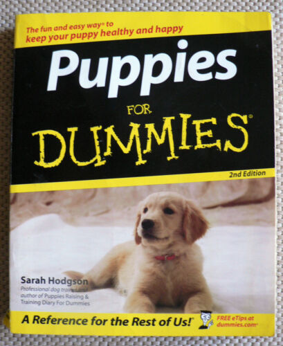 1 of 1 - PUPPIES FOR DUMMIES 2ND EDITION - SARAH HODGSON.