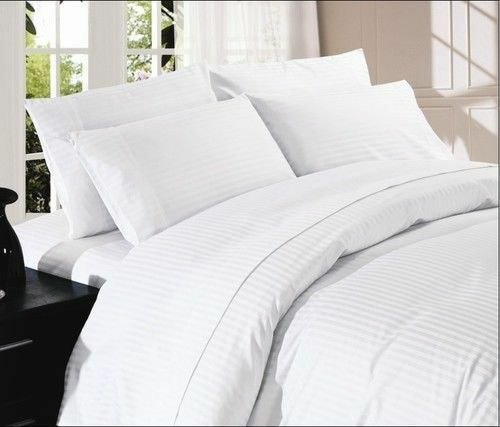 Weiß STRIPED 800 THREAD COUNT SHEET SET 100% EGYPTIAN COTTON SELECT YOUR Größe