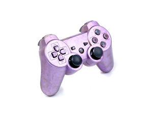 R-PS3-DUALSHOCK-3-Controller-Lila-lackiertes-Gehaeuse-Gamepad-UMBAU