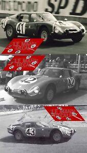 Calcas Alfa Romeo TZ2 Le Mans 1965 41 42 43 1:32 1:24 1:43 1:18 87 slot decals