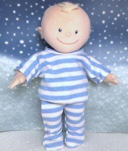 Kleidung-Schlafanzug-blau-geringelt-passend-fuer-Kruemelchen-30-cm-Neu