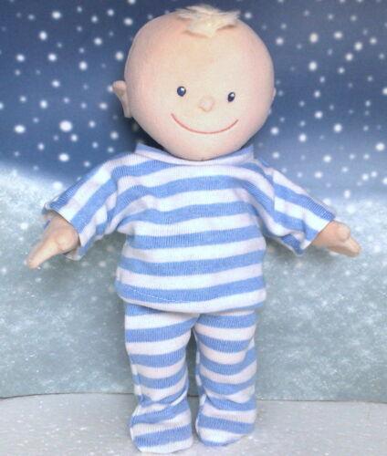 Kleidung Schlafanzug blau geringelt passend für Krümelchen 30 cm  Neu