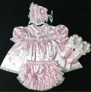 Adult Sissy Satin Dress