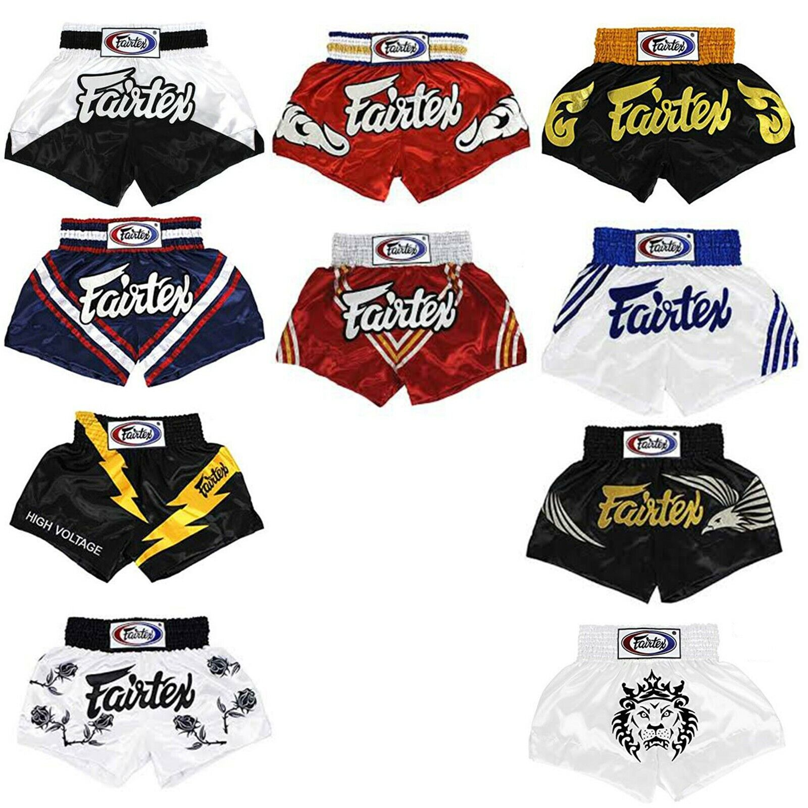 FAIRTEX BS065x Series SHORTS SLIM CUT Martial Arts Sporting MUAY THAI BOXING