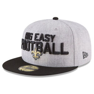 NEW ORLEANS SAINTS NFL NEW ERA 59FIFTY OFFICIAL ON STAGE DRAFT DAY ... eea3bab2b92