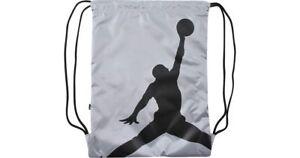 11ff4907510686 Nike Air Jordan Jumpman Drawstring Sack Gym Bag Backpack Silver ...