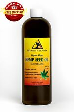 HEMP SEED OIL UNREFINED ORGANIC CARRIER VIRGIN COLD PRESSED RAW PURE 32 OZ