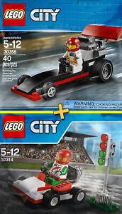 LEGO City #30314 + #30358 - Go-Kart Racer + Dragster - 100% NEW / NEUF - Sealed