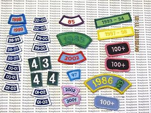 Details about Girl Scout Patches Lot of 30 Cookie Numbers Years Dates