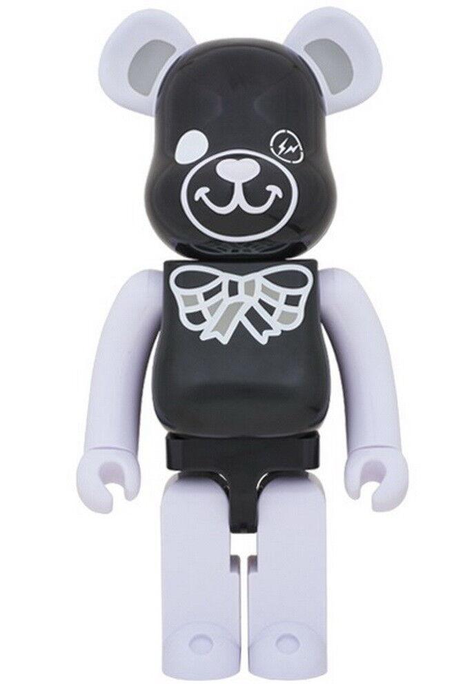 BE@RBRICK Bearbrick Medicom Toy FREEMASONRY x FragmentDesign 1000% black black Figure