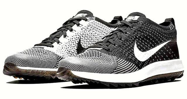 Nike Flyknit Racer Golf Shoes Black