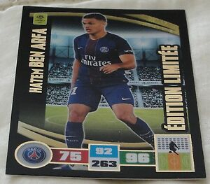 Adrenalyn-2016-17-Ligue-1-Hatem-Ben-Arfa-Rare-Limited-edition-card-NEW