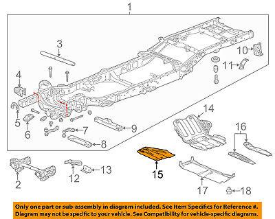NEW GM OEM FRAME-SKID PLATE 20922755