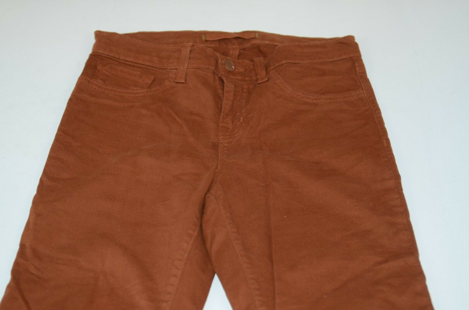 J Brand Women's Skinny Pants Size 26 Teyra Cotton Ski Burnt orange Sz 2 Casual