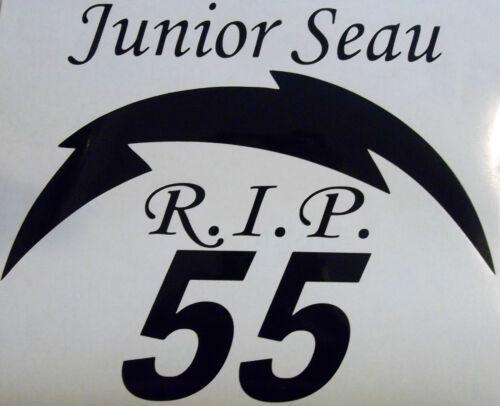 Junior Seau R.I.P Charger Sticker Rest in Peace Junior Seau