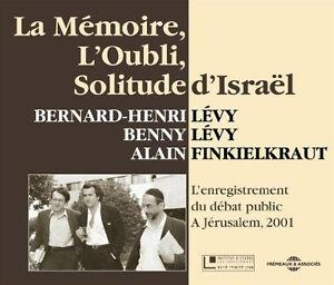 931-B-H-LEVY-LA-MEMOIRE-L-039-OUBLI-SOLITUDE-D-039-ISRAEL-2-CD-NEUF