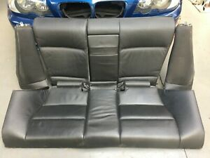 Magnificent Details About Bmw E46 3 Series Coupe 2Dr Sport Black Leather Folding Bench Seat Machost Co Dining Chair Design Ideas Machostcouk
