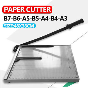 Size L A3 To B7 Paper Photo Cutter Guillotine Trimmer Knife Metal Base Portable 720355267032